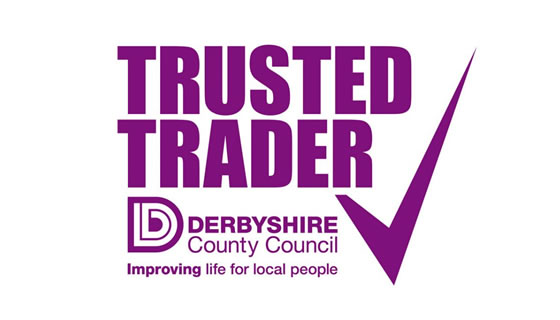 derbyshire county council trusted trader logo